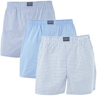 Polo Ralph Lauren Men's 3 Pack Classic Stripe and Check Woven Boxer