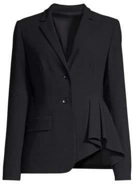 Elie Tahari Women's Rane Asymmetrical Crepe Jacket - Black - Size 6