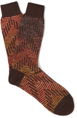 Anonymous Ism Jacquard-Knit Socks $30 thestylecure.com