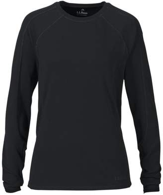 L.L. Bean L.L.Bean Polartec Power Dry Stretch Base Layer, Midweight Long-Sleeve Crew