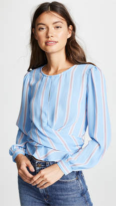 ASTR the Label Long Sleeve Wrap Top
