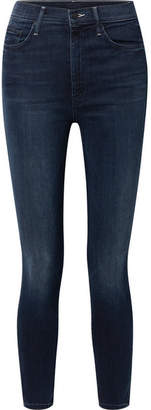 Mother The Swooner High-rise Skinny Jeans - Dark denim