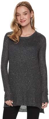 Apt. 9 Women's Sequin Mock-Layer Tunic