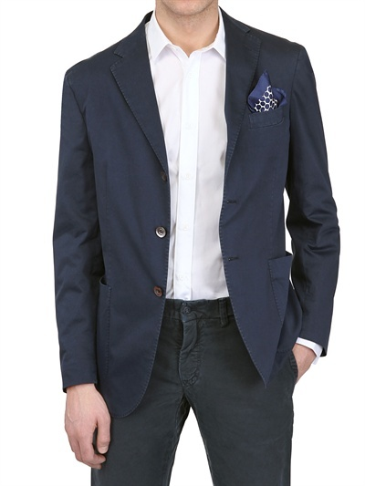 Boglioli Stretch Cotton Deconstructed Jacket