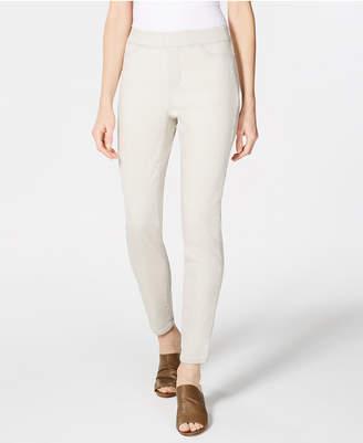 Eileen Fisher Organic Cotton Stretch Denim Pull-On Denim Leggings