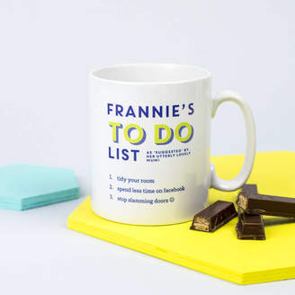 XOXO Personalised To Do List Mug