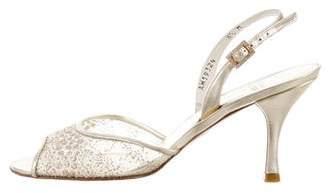 Stuart Weitzman Metallic Slingback Sandals