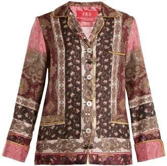 F.R.S - FOR RESTLESS SLEEPERS Rea Russian Foulard-print silk-twill pyjama shirt