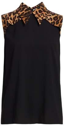 e279b22674794e Sleeveless Blouse With Collar - ShopStyle UK