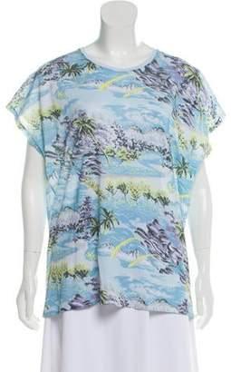 Saint Laurent 2016 Hawaiian Print T-Shirt
