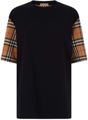 Burberry Oversized Check Sleeve T-Shirt