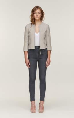 4ec59ec200697 Soia   Kyo MIRNA slim fit suede jacket with cropped sleeves