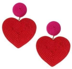 Rebecca de Ravenel Cora Corded Heart Clip-On Drop Earrings