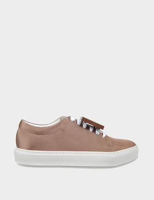 Acne Studios Adriana Mesh Sneakers in Copper Mesh and Leather