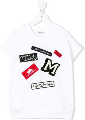 Dolce & Gabbana badge detail T-shirt