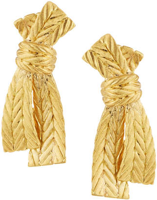 Buccellati Estate 18k Gold Bow Earrings