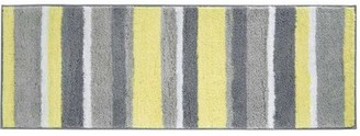 "InterDesign Microfiber Stripes Long Bathroom Rug, 60""x 21"""