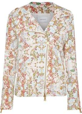 Pierre Balmain Floral-Print Denim Jacket