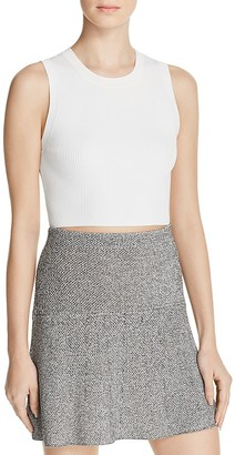 Theory Milotaly Rib-Knit Sleeveless Crop Top $190 thestylecure.com