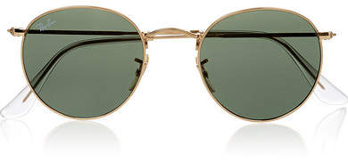Ray-Ban - Round-frame Gold-tone Sunglasses - one size