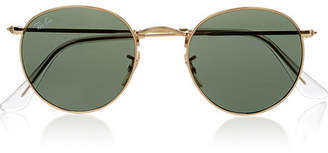 Ray-Ban - Round-frame Gold-tone Sunglasses - one size $165 thestylecure.com