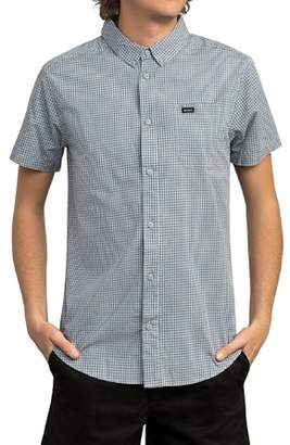 RVCA Check Slim Fit Button-Down Shirt