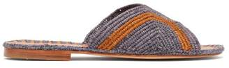Carrie Forbes - Salon Raffia Slides - Womens - Purple Multi