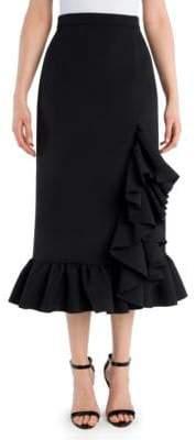 MSGM Tonal Stitched Straight Midi Skirt