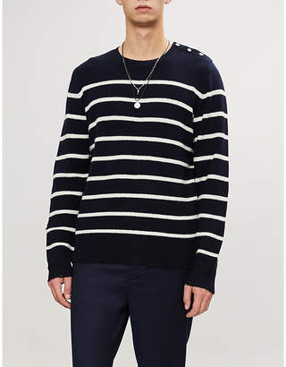 The Kooples Striped wool and cashmere-blend jumper
