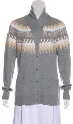 Loro Piana Cashmere Fair Isle Cardigan w/ Tags