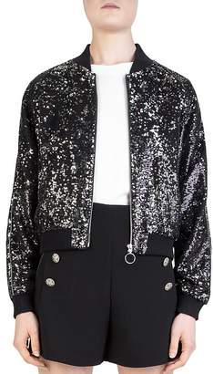 The Kooples Sequined Bomber jacket