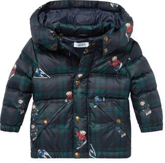 Ralph Lauren Polo Bear Plaid Down Jacket