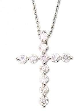 Effy Classique 14K White Gold Diamond Cross Pendant Necklace