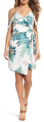 Women's Adelyn Rae Prescilla Cold Shoulder Wrap Dress $106 thestylecure.com