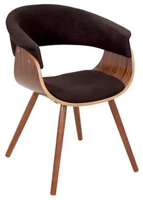 Lumisource Vintage Mod Mid-century Modern Chair in Walnut and Espresso Fabric