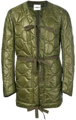 Takahiromiyashita The Soloist quilted coat with belted waist