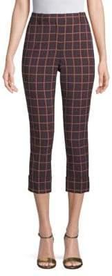 Theory Folded-Cuff Cropped Pants