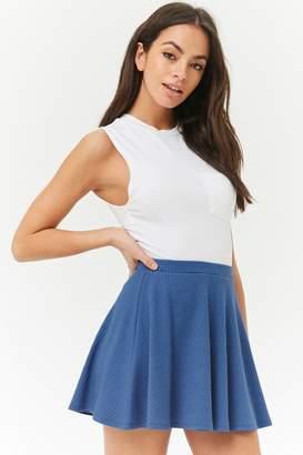 Forever 21 Ribbed Skater Mini Skirt