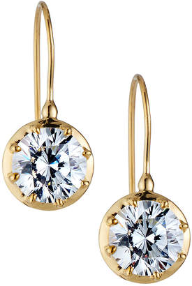 FANTASIA Solitaire Cubic Zirconia Drop Earrings
