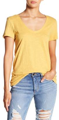 Susina Solid Scoop Neck Tee (Petite Size Available)