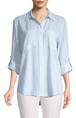 MICHAEL Michael Kors Striped Button Front Blouse