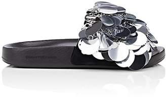 Paco Rabanne Women's Embellished PVC Slide Sandals - Silver
