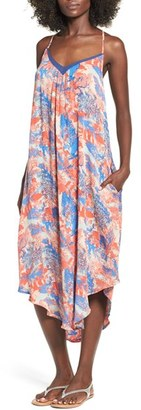 Roxy 'Kat Fish' Print Woven Midi Dress $59.50 thestylecure.com