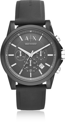 Armani Exchange Outerbanks Black Silicone Men's Chronograph Watch