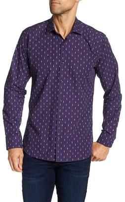 Jared Lang Soldier Print Long Sleeve Regular Fit Shirt