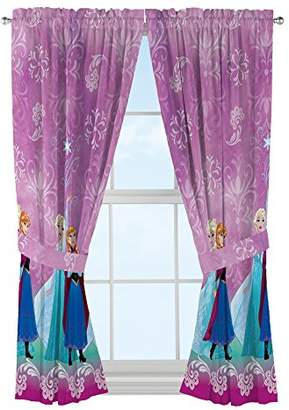 Disney Frozen Kids Room Window Curtain Panels with Tie Backs