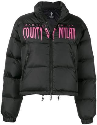 Marcelo Burlon County of Milan logo printed puffer jacket
