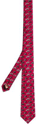Burberry Slim Cut Taxi Print Tie