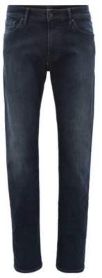 BOSS Hugo Regular-fit jeans in overdyed blue-black stretch denim 31/32 Dark Blue
