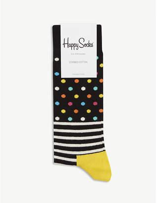 Happy Socks Spots and stripes cotton-blend socks